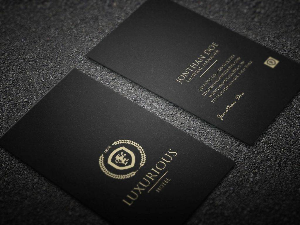 luxurious hotel business card example 1024x768