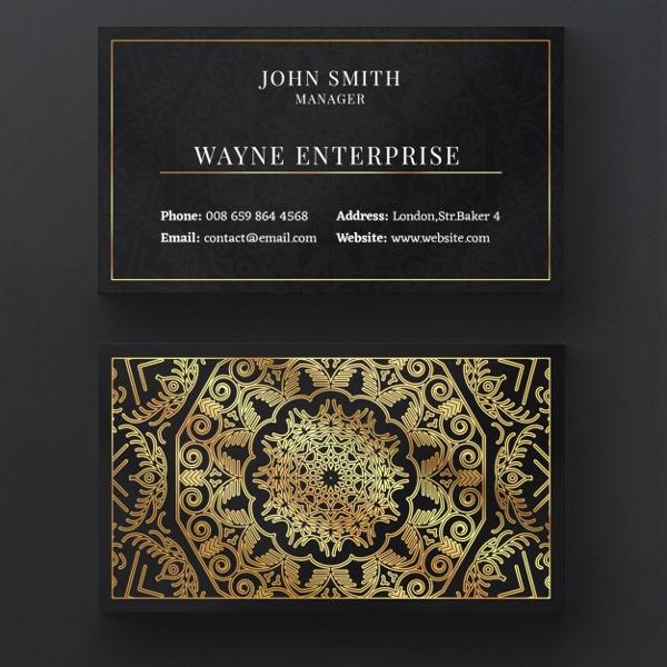 luxury mandala business card invitation