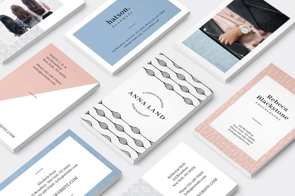 14 logo and business card designs and examples psd ai malina business cards logo example reheart Gallery