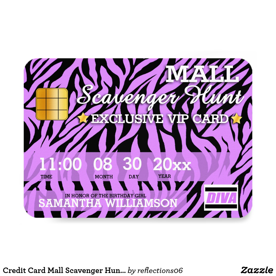 mall exclusive purple debit card example1