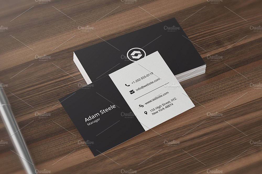 manager minimal business card example