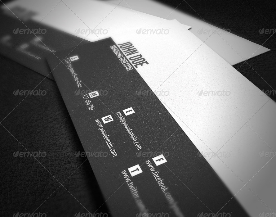 managing director business card example