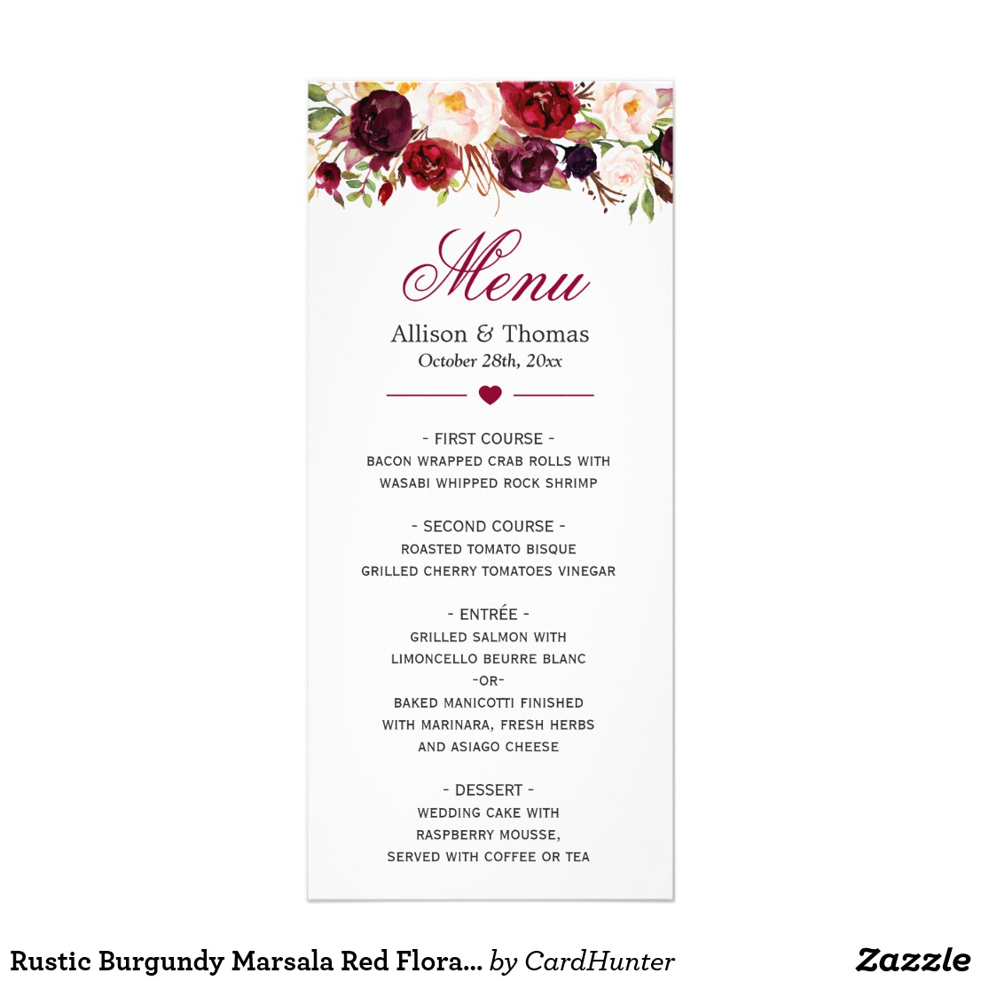 14 printable wedding menu designs and examples psd ai