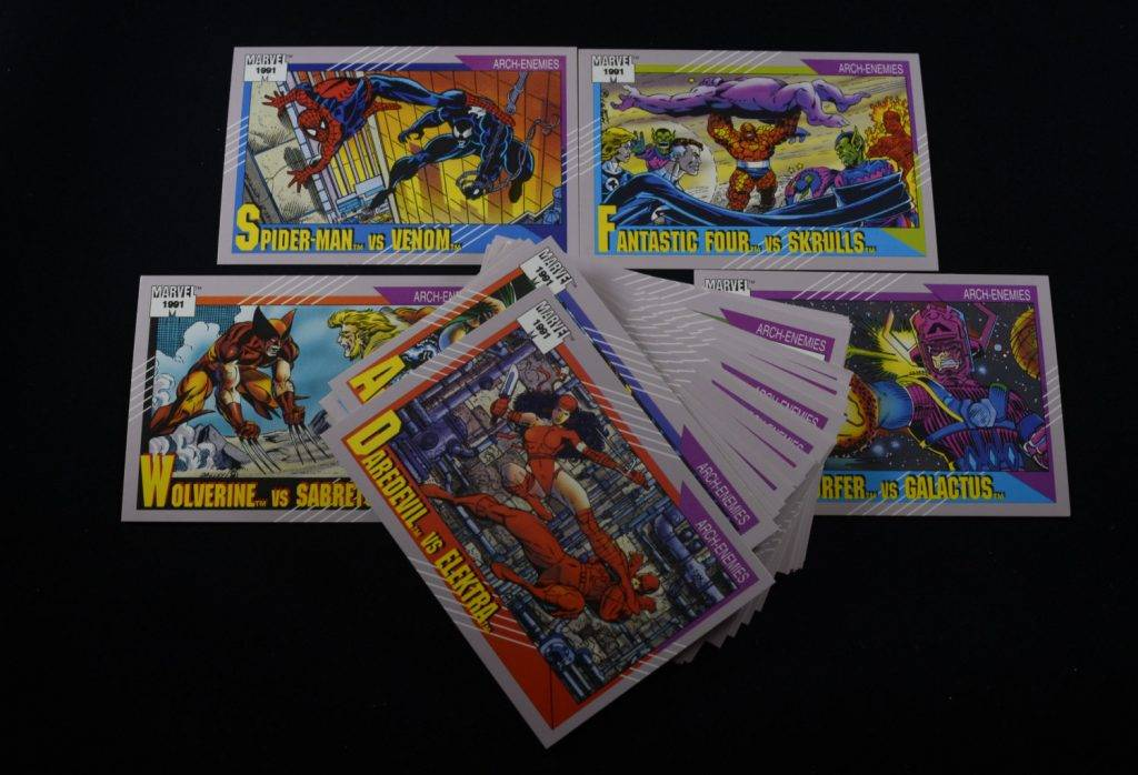 marvel comics trading card example