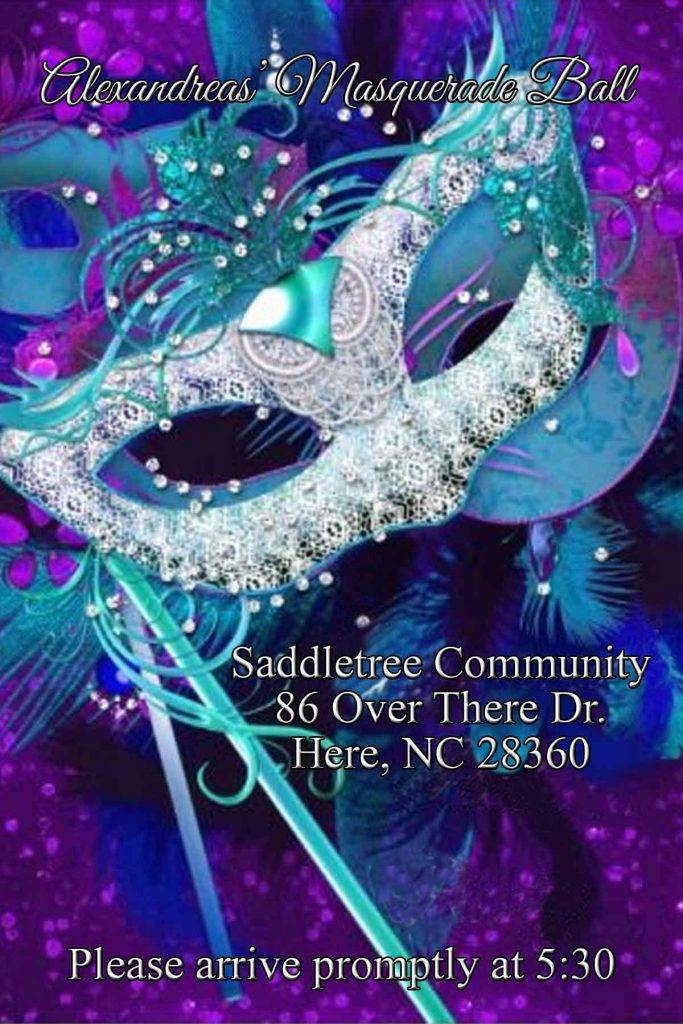 masquerade ball birthday invitation example
