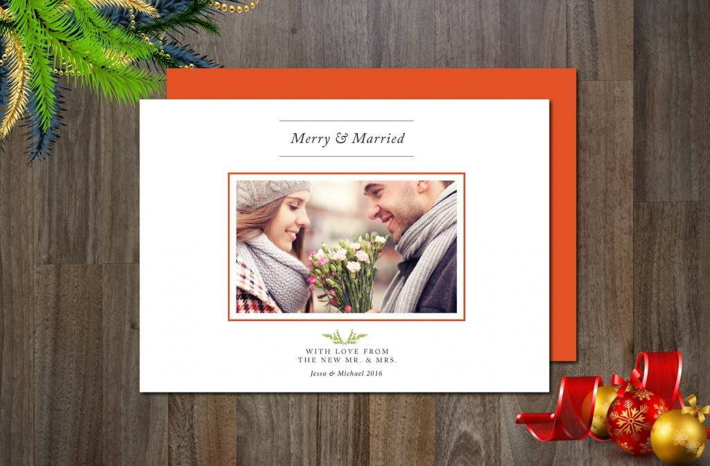 merry married photo card example1