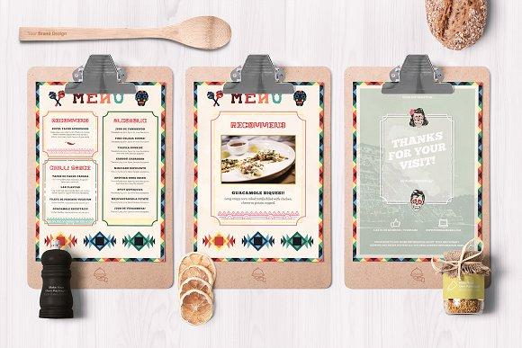 mexican food menu example