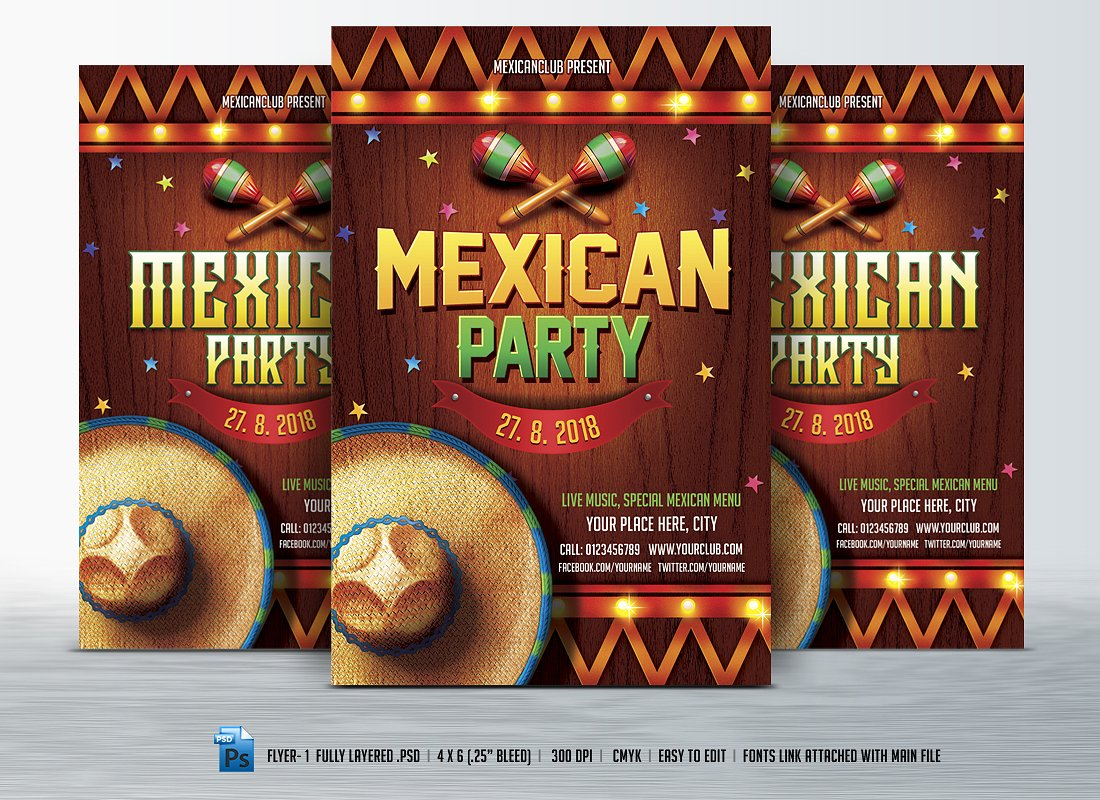 mexican printable party menu example