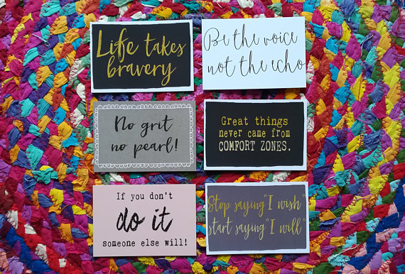 mini positive inspirational postcard example