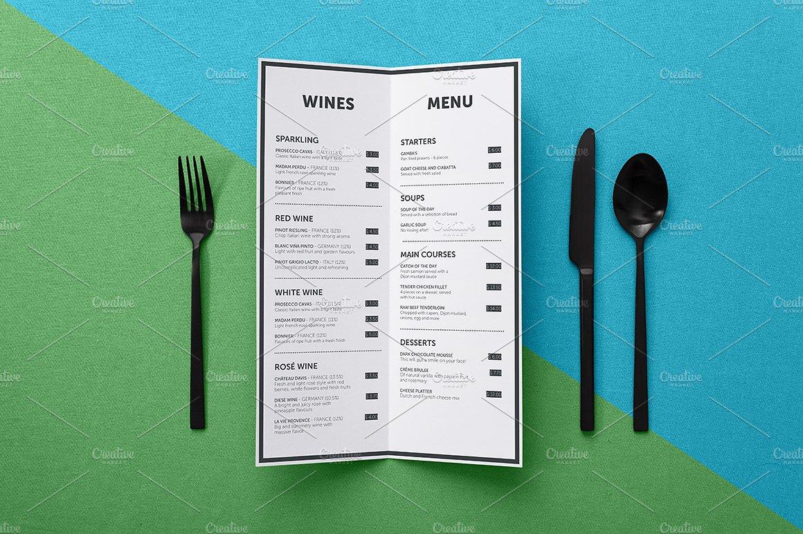 minimal birthday menu for kids example