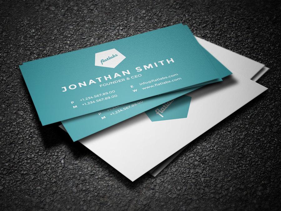 minimal corporate business card design template