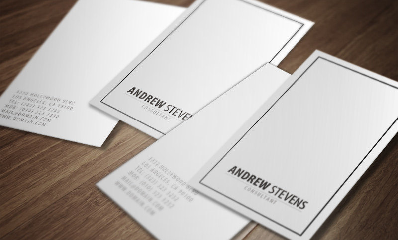 minimal professional business card example