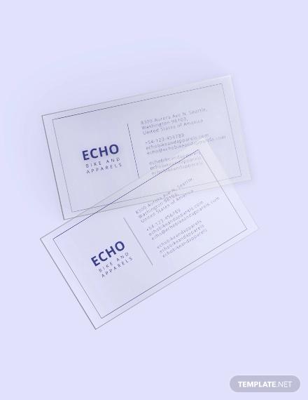 minimal transparent card