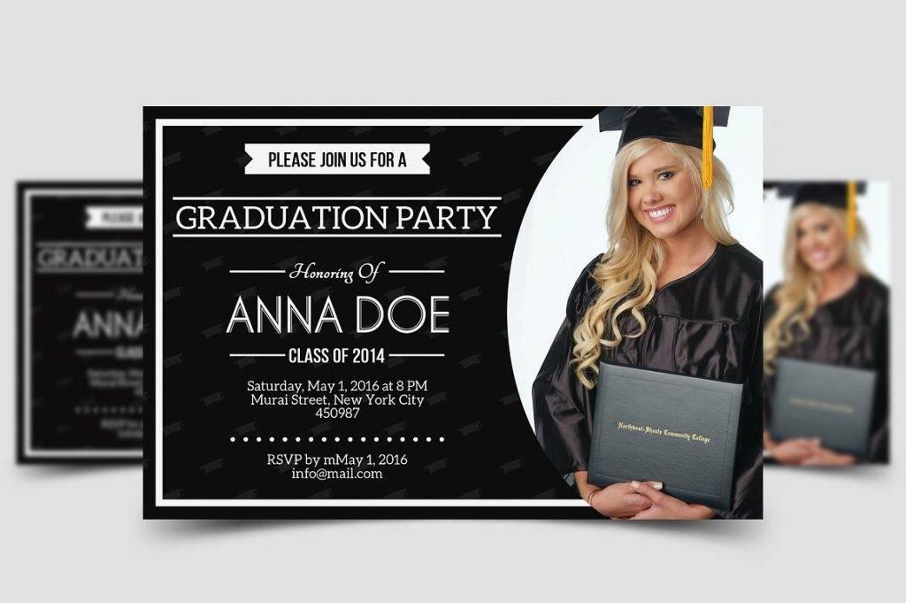 minimalist college graduation invitation example