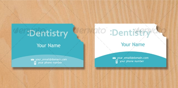 minimalist dentist business card example