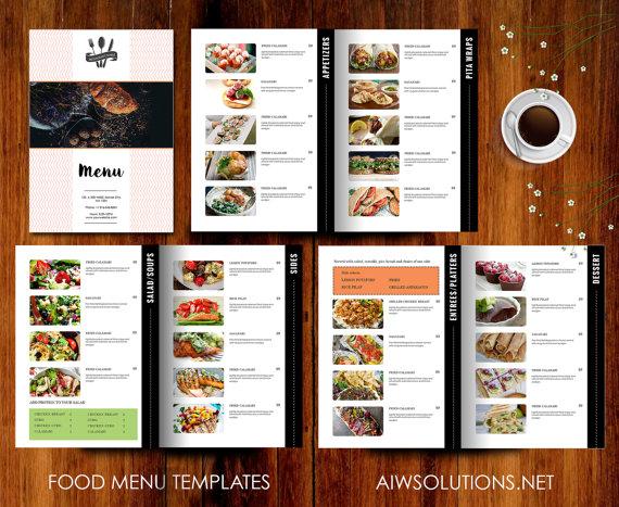 minimalist food menu example