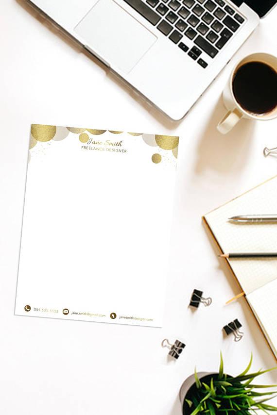 minimalist gold letterhead design example