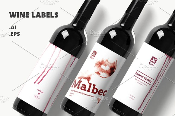 minimalist wine bottle design example