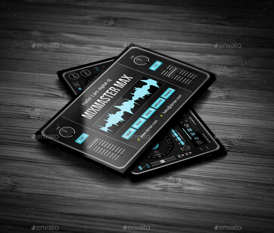 mixmaster dj business card design