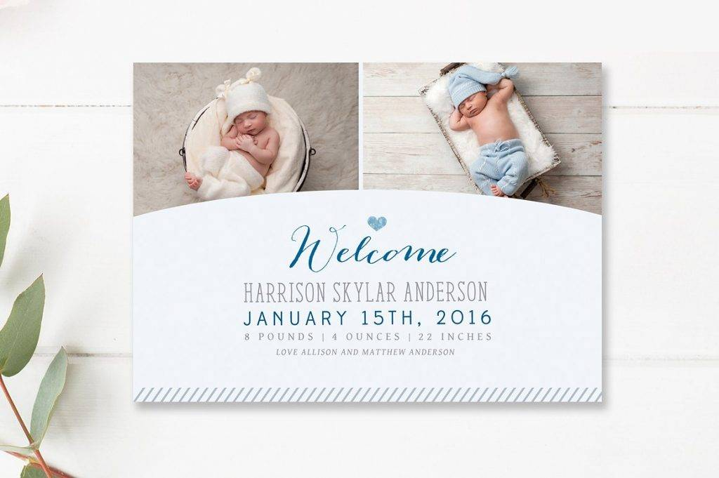 modern baby announcement design example