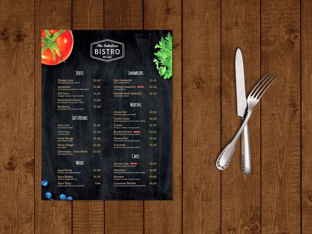 modern bistro indesign menu example 1024x768