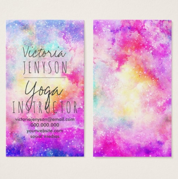 modern bright yoga business card