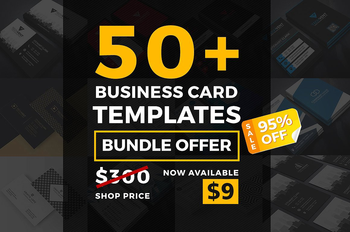 modern business card bundle example