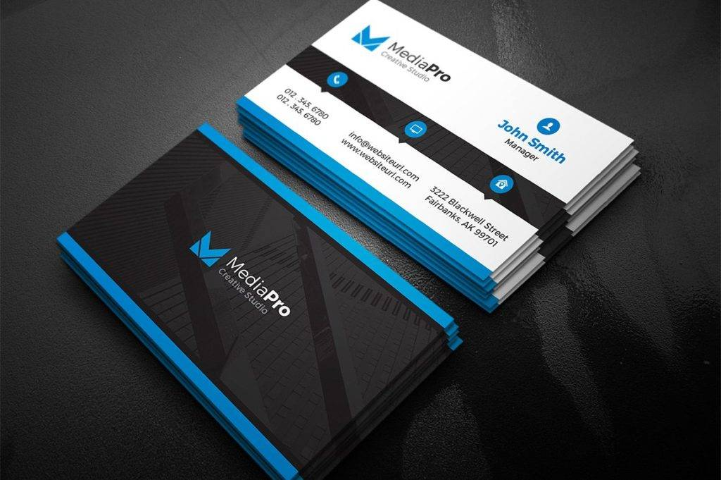 modern creative business card example