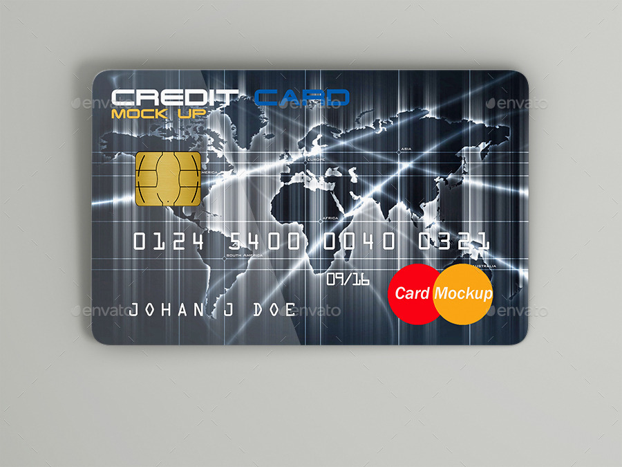 modern credit card example