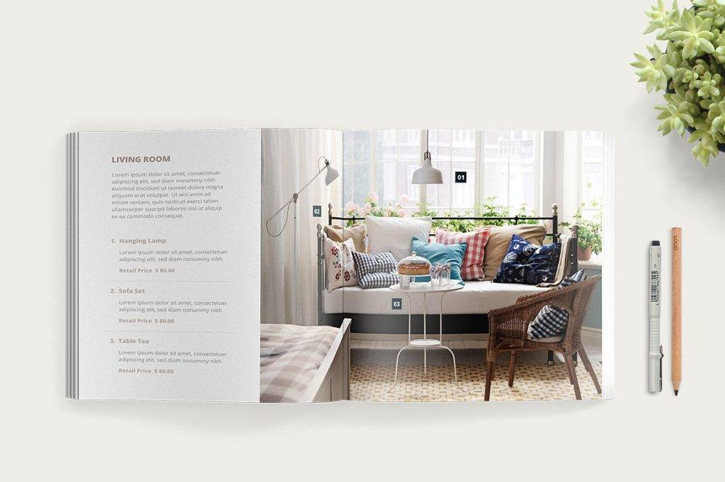 modern furniture and interior catalog example