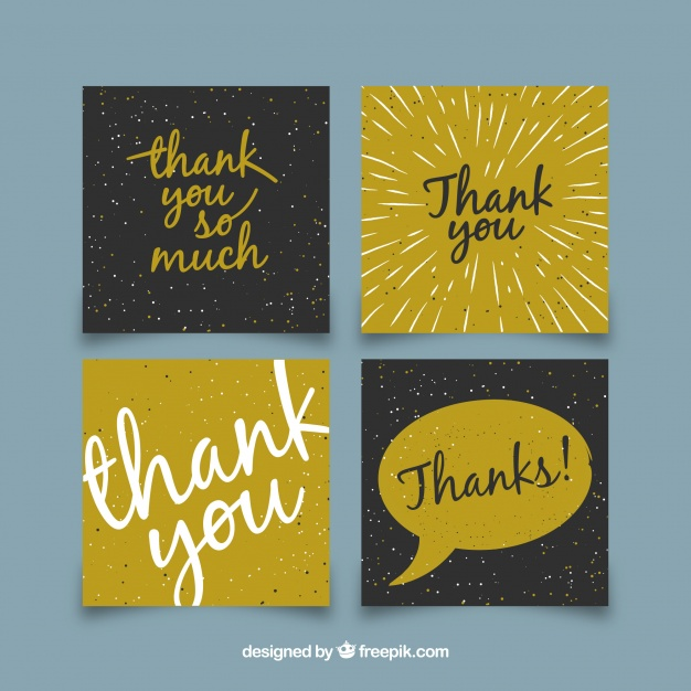 modern thank you card collection example