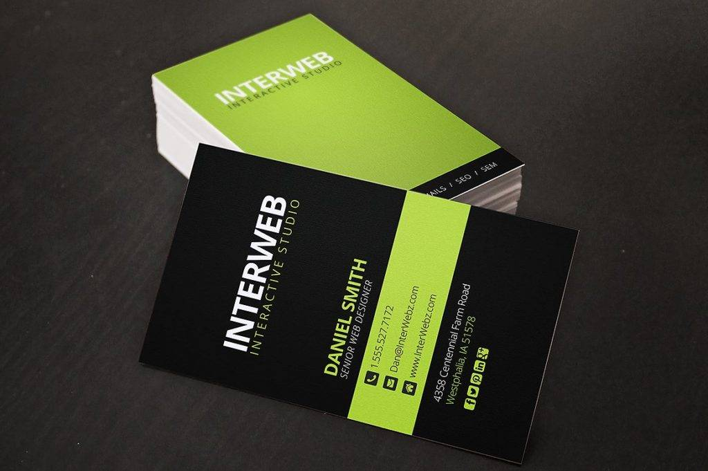 14 web designer business card designs and examples psd ai modern web designer business card reheart Images