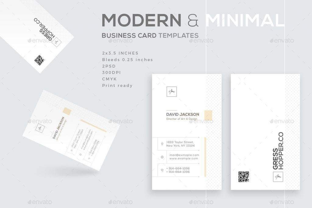 modern and minimal business card example1