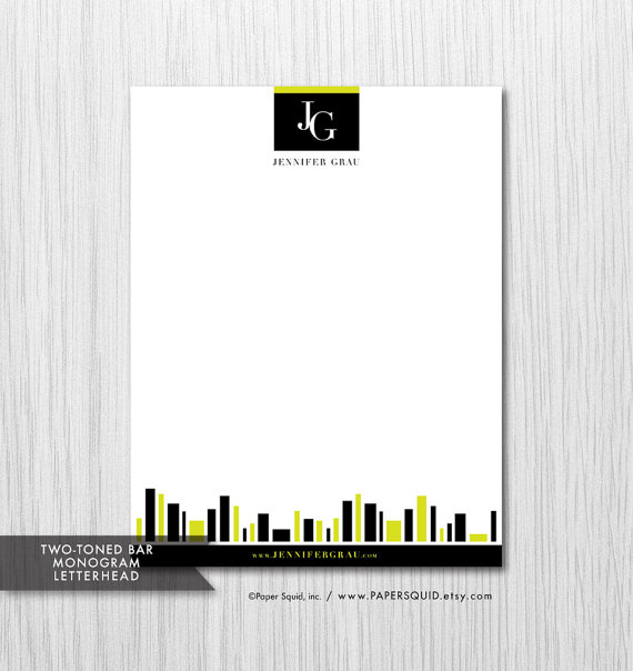 monogramed letterhead design example