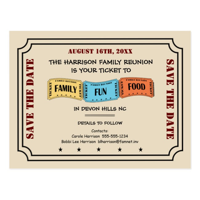 movie ticket reunion invitation example