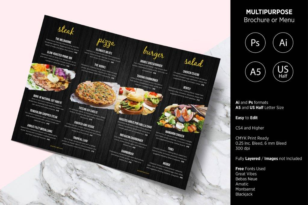 multipurpose indesign menu example 1024x681