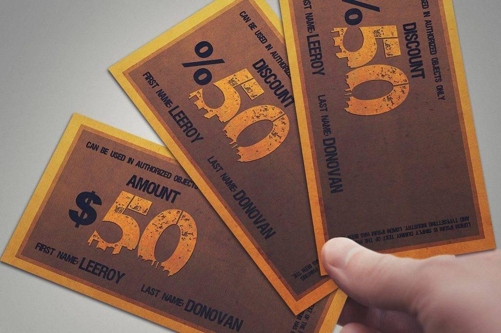 multipurpose retro prize voucher example