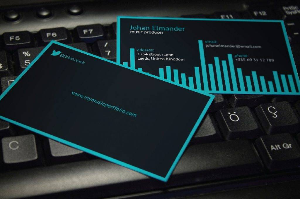 12+ DJ Business Card Designs and Examples - PSD, AI