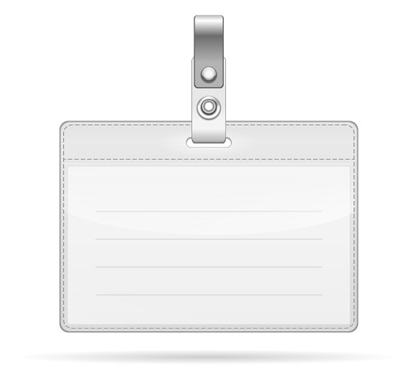 name tag isolated on white example