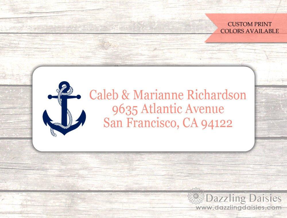 nautical return address label example