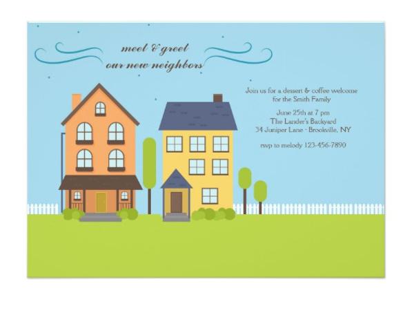 neighbors meet greet invitation