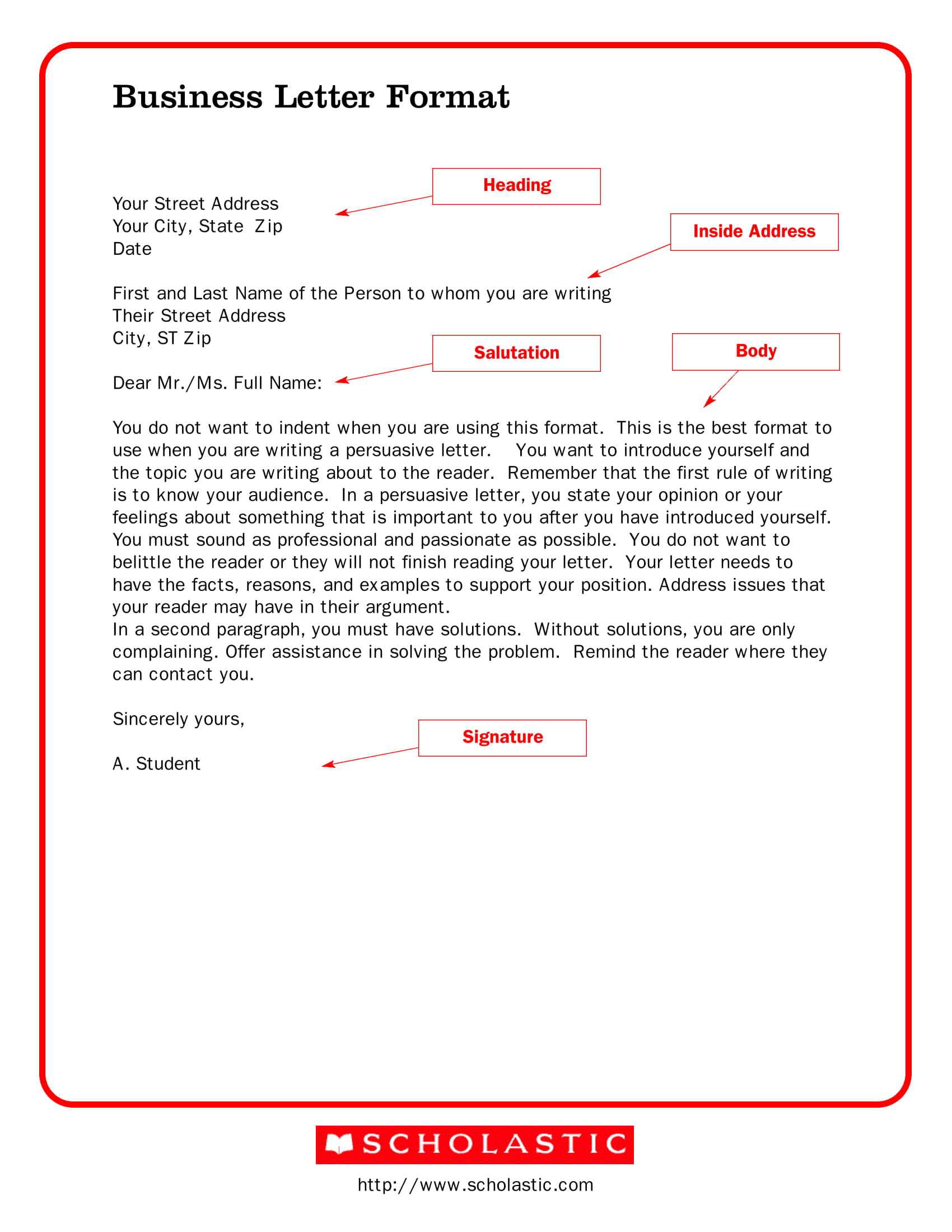 new business letter format example