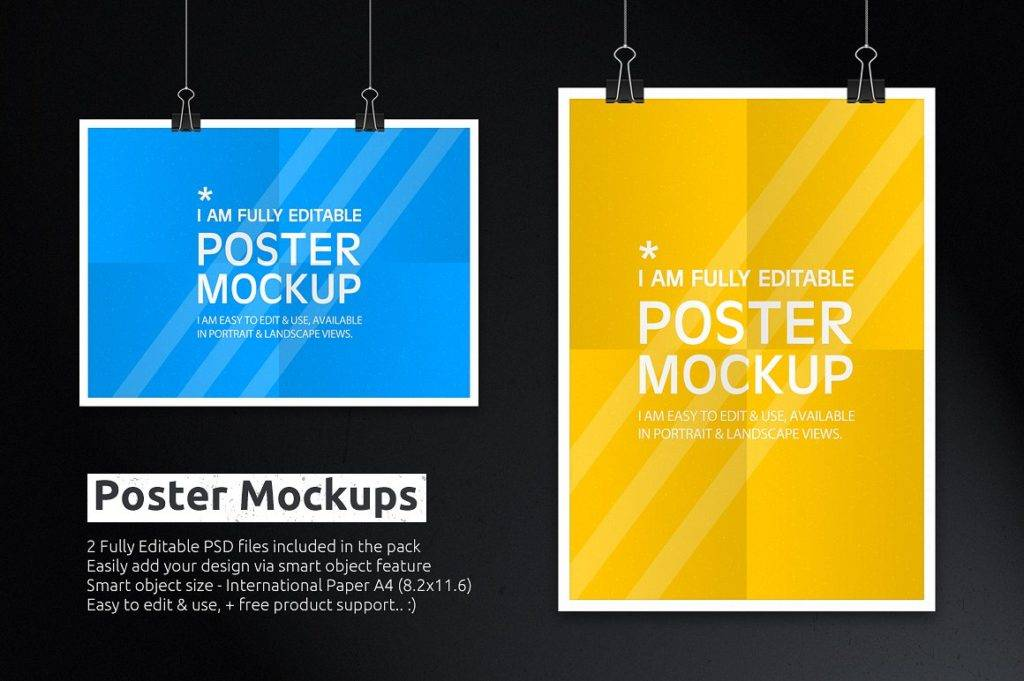 new editable poster mockup example