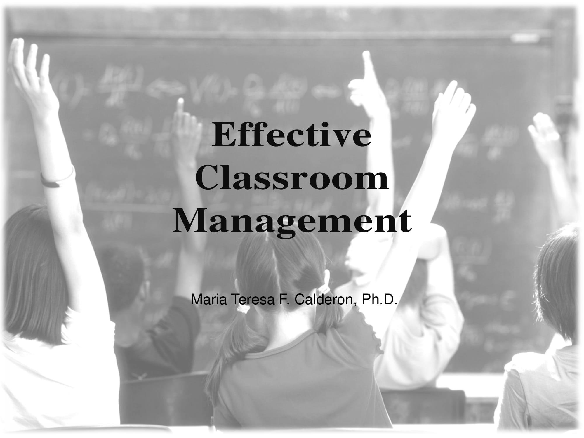 new effective classroom management plan example
