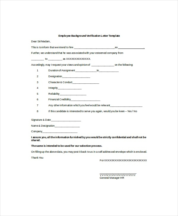 9 verification of employment letter examples pdf. Black Bedroom Furniture Sets. Home Design Ideas