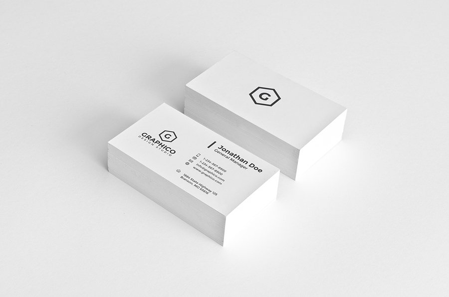 new minimalist business card example