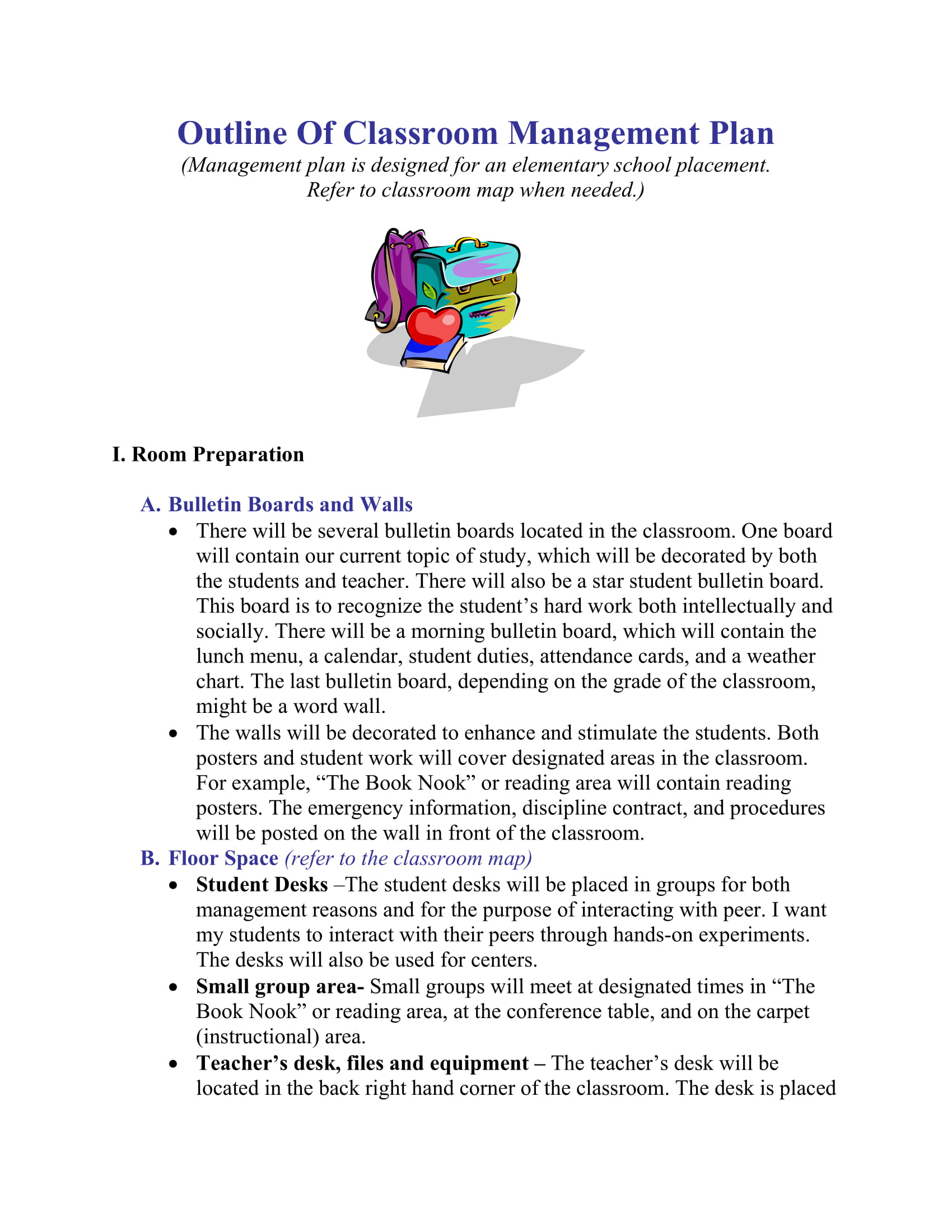 9+ Effective Classroom Management Plan Examples - PDF, Word