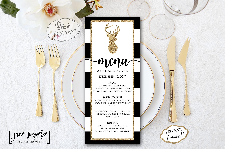 new reindeer holiday menu example