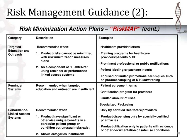 new risk management plan example