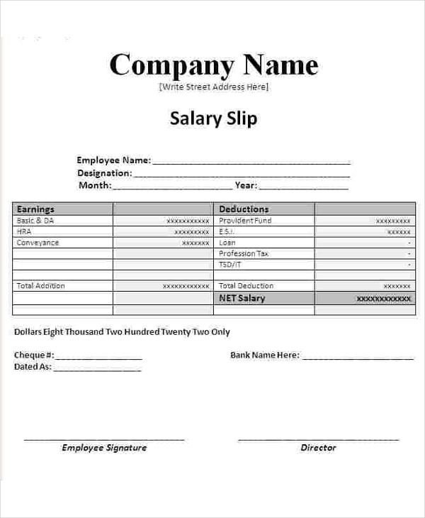 new simple salary slip example1